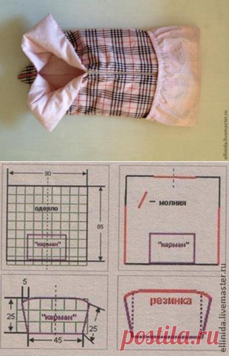 Конверт на выписку - одеяло-трансформер для новорожденного