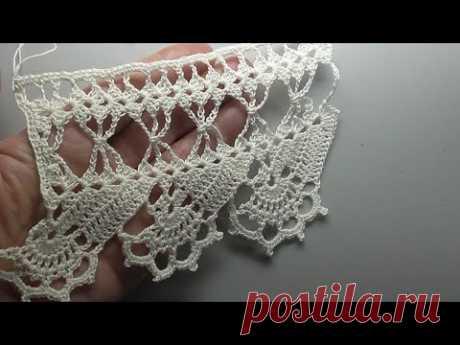 Crochet border Free pattern Simple and Beautiful Красивая кайма крючком