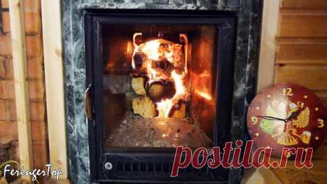 Как заложить дрова в печь для длительного горения. Видео с горением дров | Баня на 5+ | Яндекс Дзен