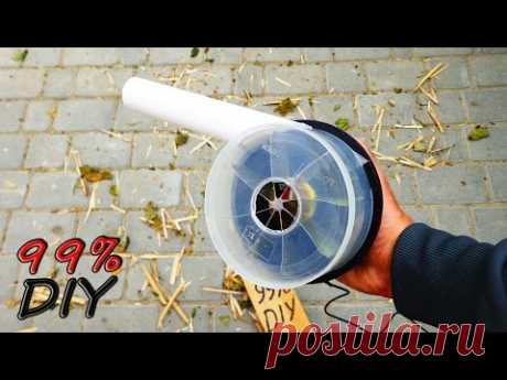 How to make the powerful blower with own hands? \/ How to make a powerful blower?