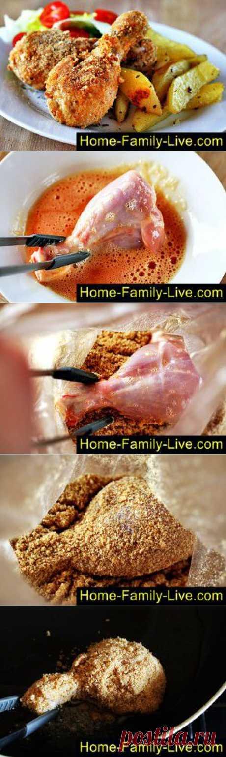 куриные ножки в ореховой панировке