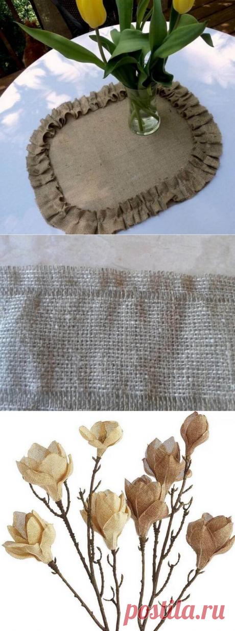 Декор из мешковины своими руками | Тысяча и одна идея