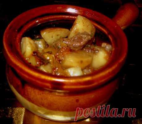 мясо с картофелем и овощами