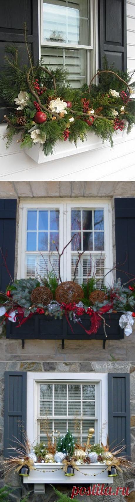 Нворічний декор вікон приватного будинку   Ідеї декору