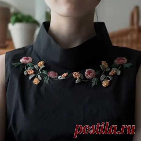 Как вышить цветы на блузке - Декоративное королевство - медиаплатформа МирТесен