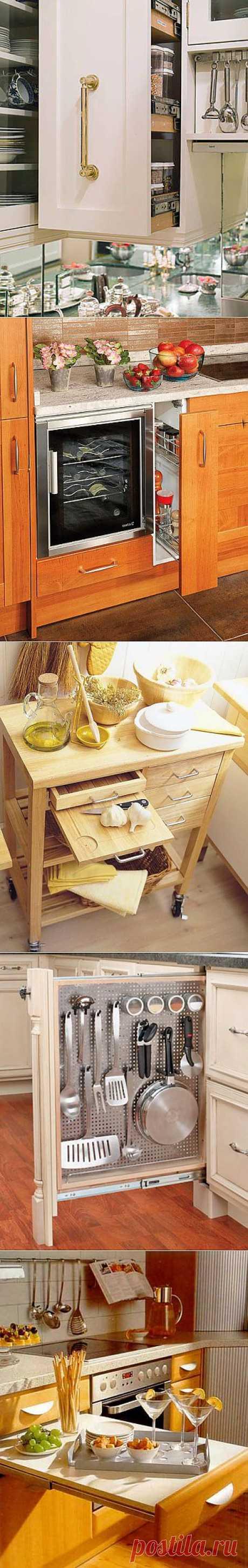 Возможности организации пространства в ящиках на кухне..