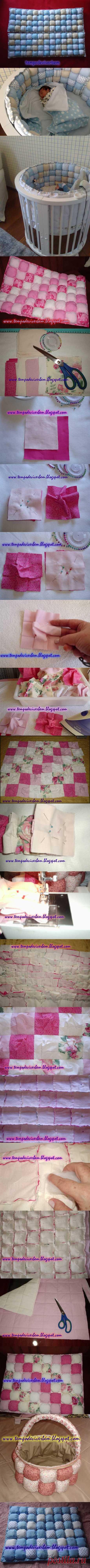 Одеяло и бортики в детскую