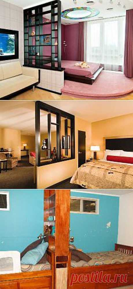 Используем стеллажи для разделения комнаты