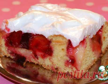 Сливовый пирог из теста на йогурте – кулинарный рецепт