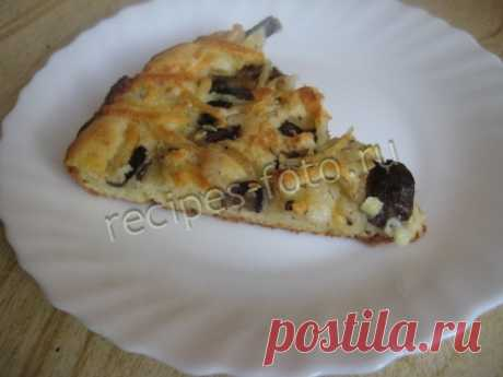 Jellied mushrooms and cheese pie on the fast test. Recipe