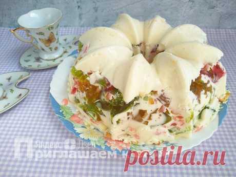 Не десерт, а произведение искусства — торт «Самоцветы в снегу» без духовки и вреда для фигуры | Приглашаем к столу | Яндекс Дзен