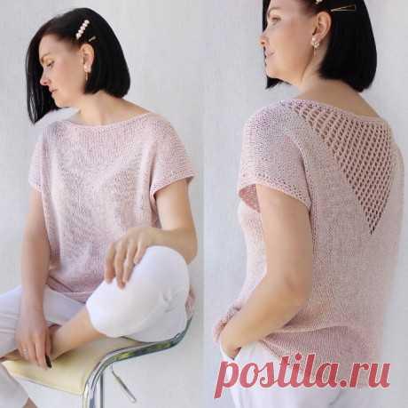 Простой летний топ спицами, Вязание для женщин