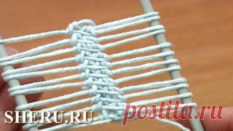Вязание ленты столбиками без накида. Урок 16