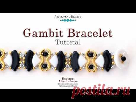 Gambit Bracelet - DIY Jewelry Making Tutorial by PotomacBeads