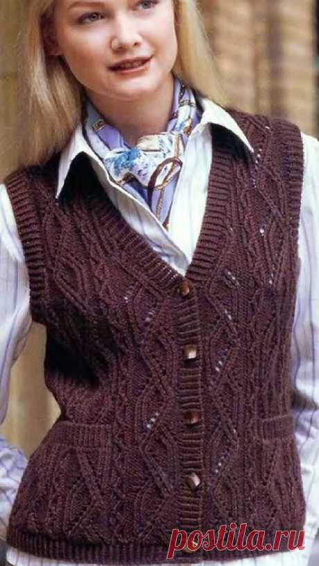Knitting of vests and sleeveless jackets (5 cozy models).