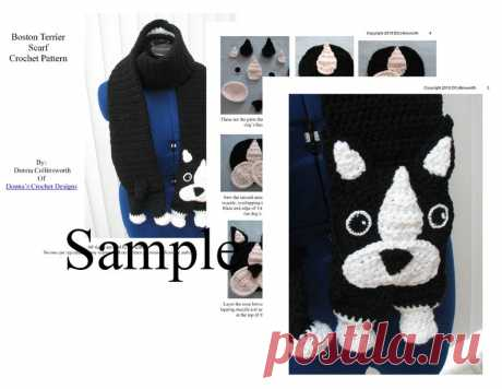 Boston Terrier Scarf Crochet Pattern With Tutorials | Etsy Face could be modified into a cat...