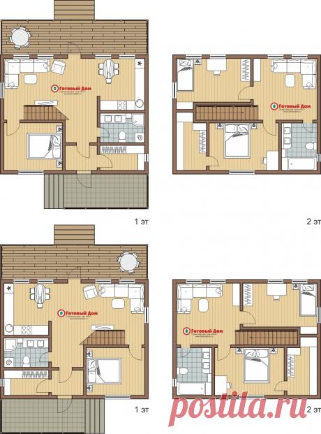 Жилой дом 9х7, 2 этажа - каркасный дом под ключ - Готовый Дом, г. Екатеринбург: строительная фирма малоэтажных домов и коттеджей