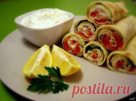Блины с сыром и семгой - пошаговый рецепт с фото на Повар.ру