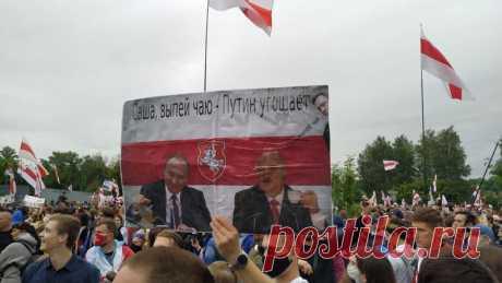 «Ты сам себе больше не веришь». Что хотели сказать Лукашенко десятки тысяч беларусов, которые пришли к его резиденции - KYKY.ORG