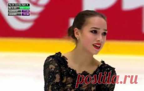 Опубликовано видео победного танца Загитовой на Гран-при в Хельсинки Отечественной спортсменке удалось набрать 215,29 баллов.