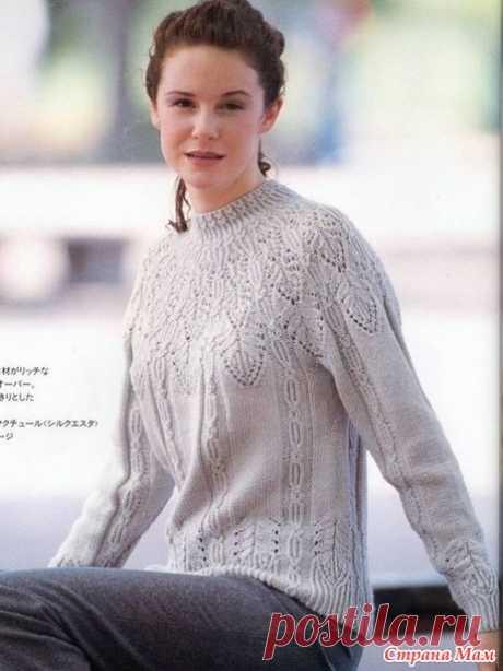 Джемпер на круглой кокетке - Вязание - Страна Мам