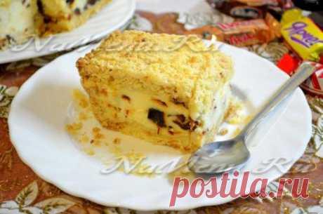 Песочный пирог c творожной начинкой, рецепт