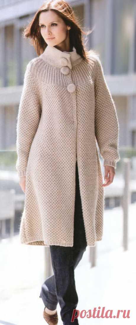 "Stylish knitted ""амазонка города&quot coat;."