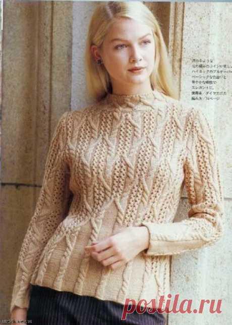 Узор спицами для пуловера