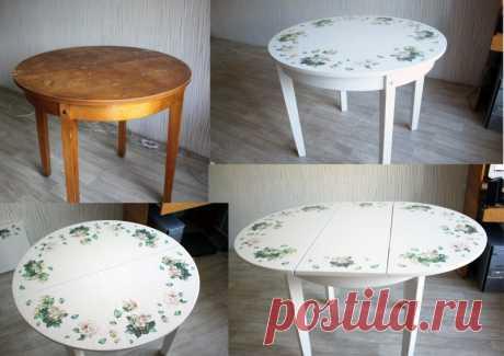 Декупаж стола: 110 фото декорирования старых столов при помощи наборов для декупажа