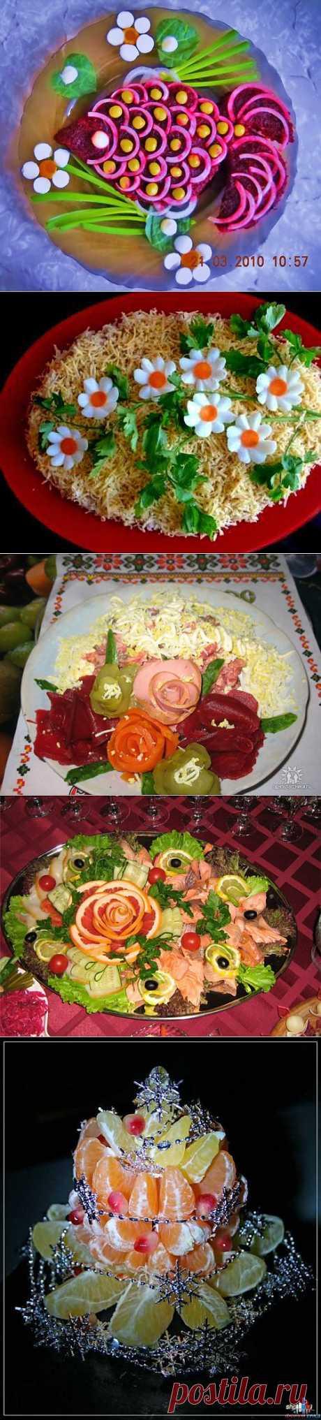 (+1) - Украшение салатов и вторых блюд. Великолепная подборка! | Любимые рецепты