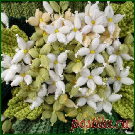 Цветы из пряжи Мастер класс
