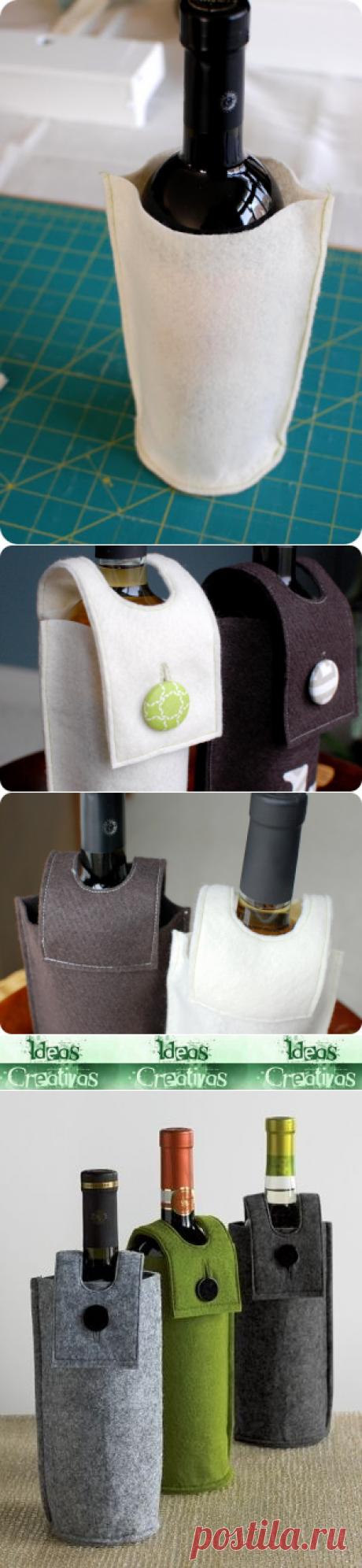 Ideas Creativas y Practicas: Funda de Fieltro para Botellas
