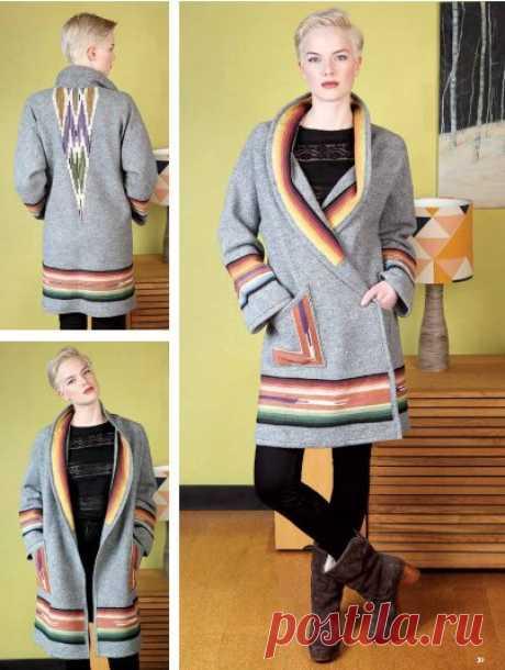 Выкройка  модного пальто без подклада Модная одежда и дизайн интерьера своими руками