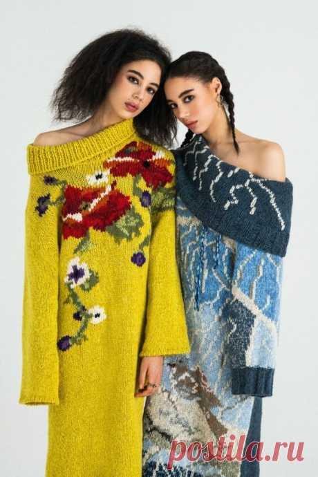 100% тренд сезона - Вышивка на вязаных изделиях. 7 идей. | The Wool | Яндекс Дзен