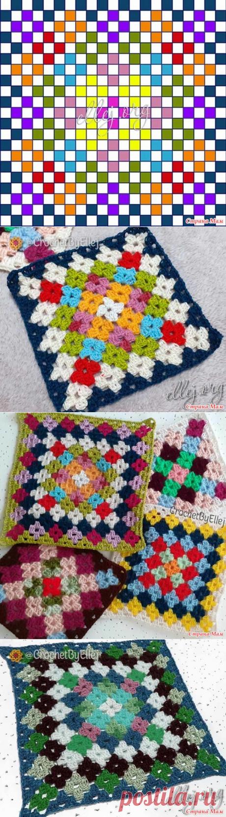"Бабушкин квадрат ""Цветочная поляна"" - Страна Мам"