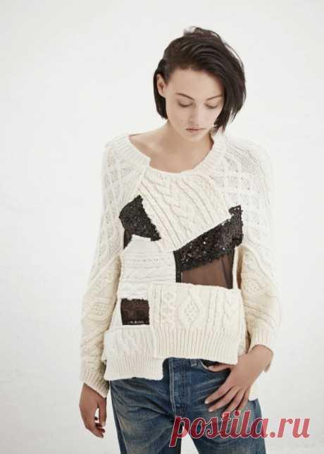 Вязаный пэчворк - свитер Junya Watanabe