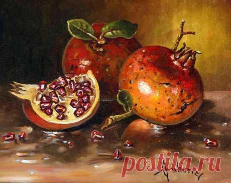 Pomegranates,  Original painting, oil on canvas 30×40cm… for sale – 450$