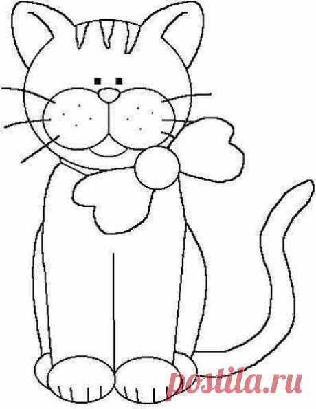 Аппликацию из ткани кота как сделать своими руками?