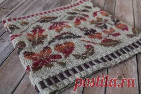 Красивый жаккард #knitting #жаккард_спицами #схемы_жаккард #интарсия_спицами