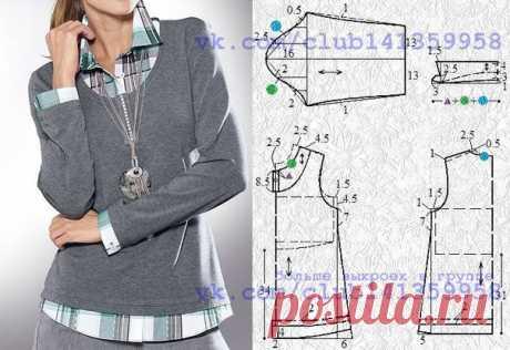 Пошаговое построение выкройки пиджак мужской