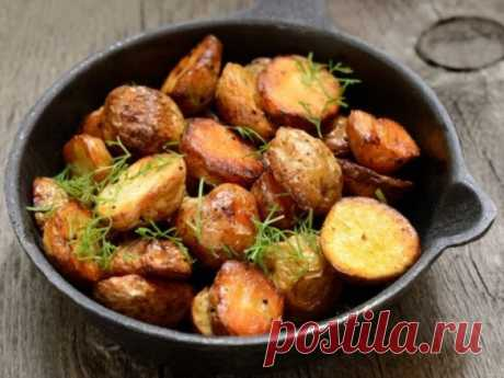 The baked potatoes with rosemary
