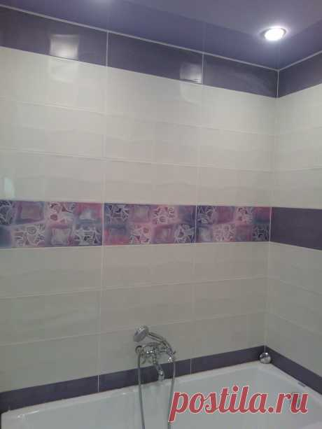 Отделка ванной комнаты эконом класса в новостройке.