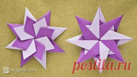 Делаем двухцветную звездочку-оригами — I Love Hobby — Лучшие мастер-классы со всего мира!