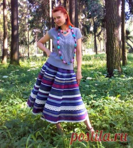 Юбка Кружевель синяя – купить в интернет-магазине HobbyPortal.ru с доставкой