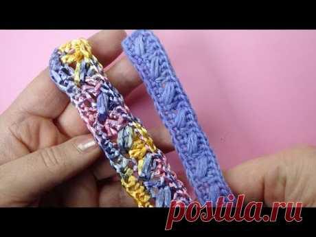Начинаем вязать – Видео уроки вязания » Как вязать пояс или ручки для сумочки?