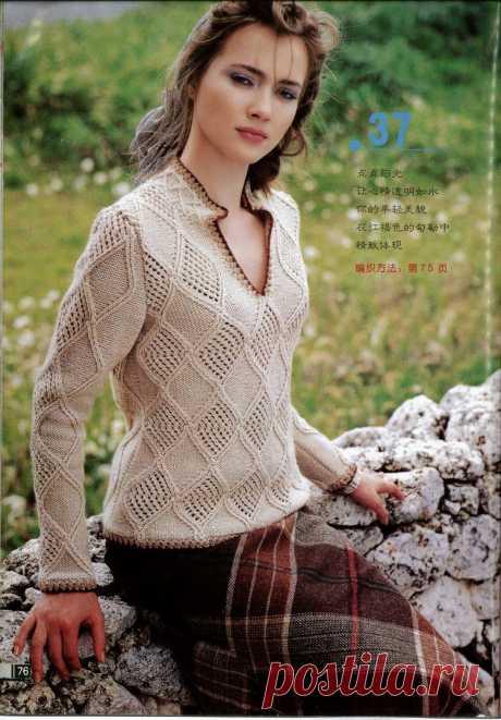 Женские модели спицами. Журнал со схемами. Замечательный японский журнал со схемами вязания спицами женских моделей - жакетов, жилетов, кофточек, безрукавок