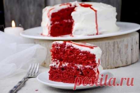 Как приготовить страшно красивый десерт бархатный торт - рецепт, ингридиенты и фотографии