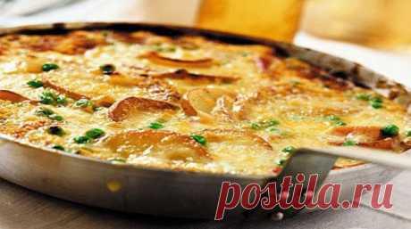 Хрустящий картофельный омлет с грибами