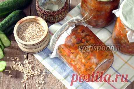 El rassólnik con la cebada perlada para el invierno en la multicocción la receta de la foto, como preparar en Webspoon.ru