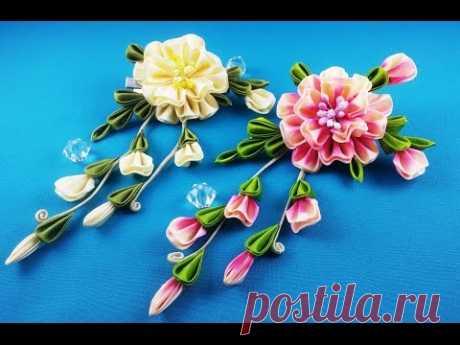 Ribbon flower.DIY\/Flor de las cintas.CM\/the Flower from tapes. MK